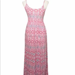 Quicksilver Pink Dress Maxi Spaghetti Strap Med